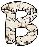 Sheet music clipart jpg royalty free stock ArtbyJean - Vintage Sheet Music: Alphabet Set - Vintage Sheet ... jpg royalty free stock