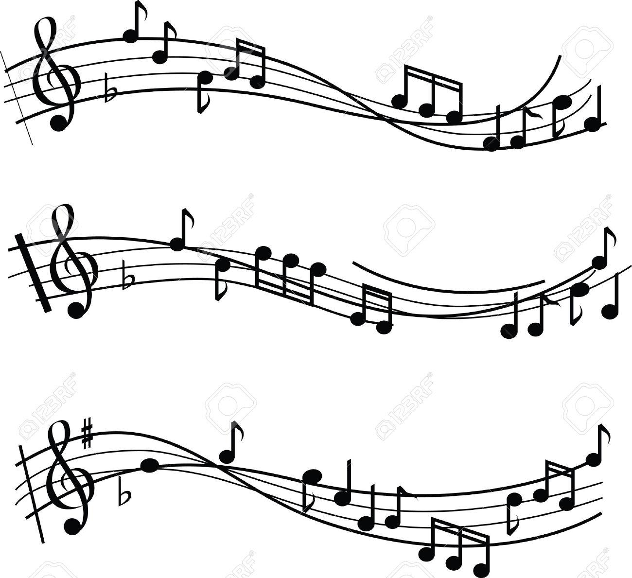 Sheet music clipart image free Sheet music with no musical notes clipart - ClipartFest image free