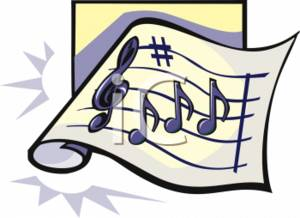Sheet music clipart clip art royalty free Clipart Picture of Sheet Music clip art royalty free