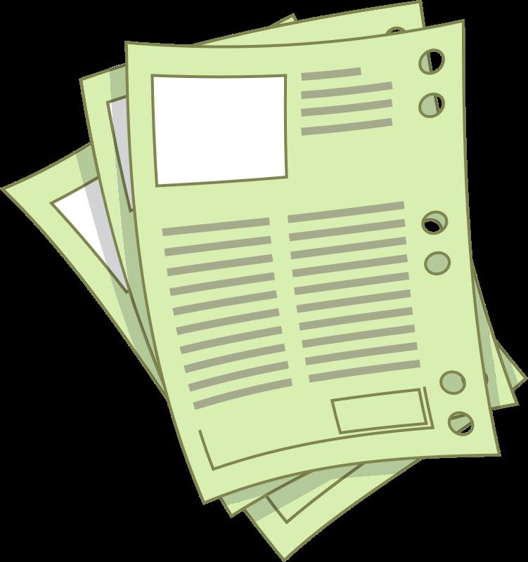 Sheet of paper clipart clipart transparent download Peices Of Paper Clipart - Clipart Kid clipart transparent download