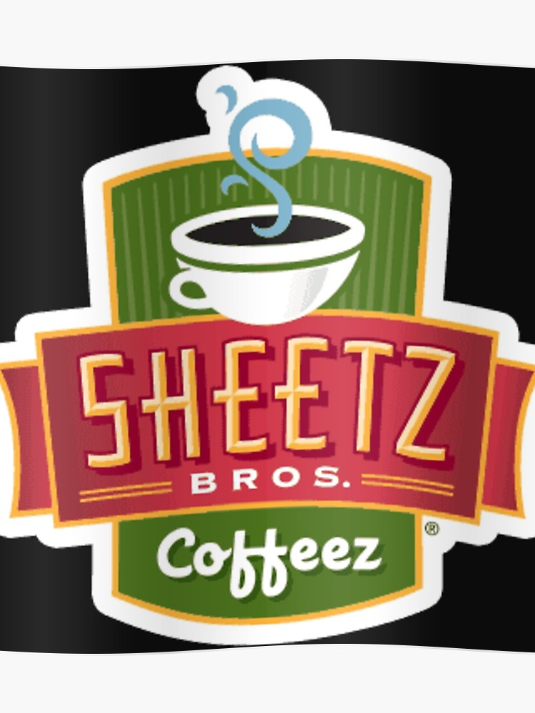 Sheetz logo clipart image black and white stock Sheetz Brothers Coffee Logo | Poster image black and white stock