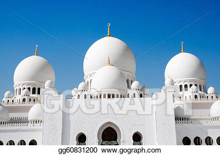 Sheikh zayed mosque clipart clipart free library Stock Illustrations - Sheikh zayed mosque in abu dhabi ... clipart free library