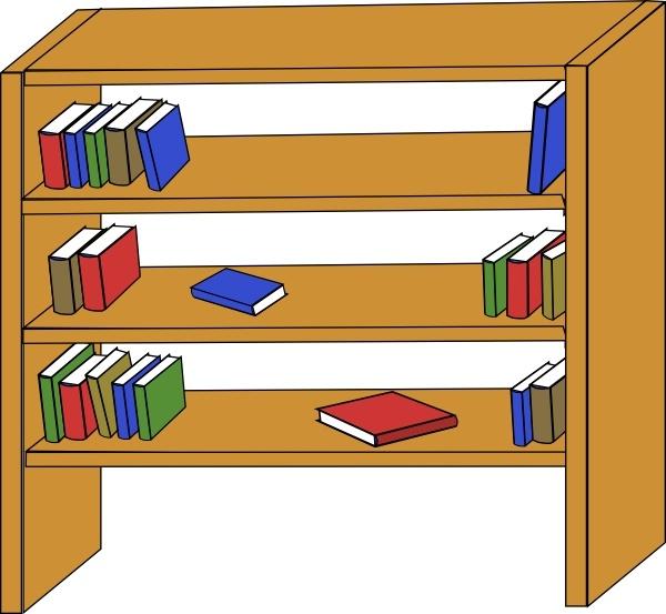 Shelving books clipart jpg download Furniture Library Shelves Books clip art Free vector in Open ... jpg download