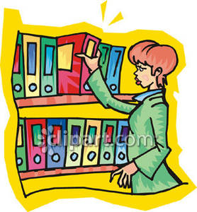 Shelving books clipart png black and white download Woman Pulling A Book From a Shelf - Royalty Free Clipart Picture png black and white download