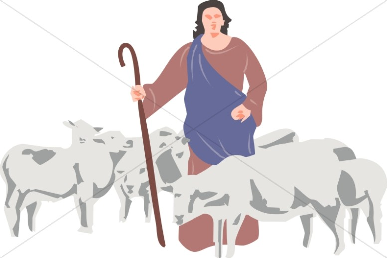 Shepherd sheep clipart clip black and white A Shepherd And His Sheep | Christian Shepherd Clipart clip black and white