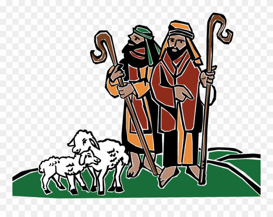 Shepherd sheep clipart graphic royalty free library Shepherds And Sheep Clipart - Png Download (#904918 ... graphic royalty free library