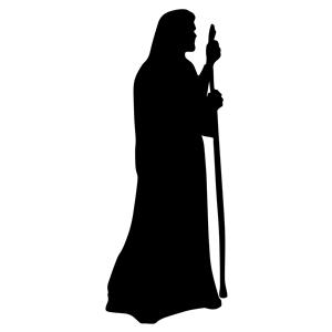 Shepherd silhouette clipart banner library Jesus The Shepherd Silhouette clipart, cliparts of Jesus The ... banner library