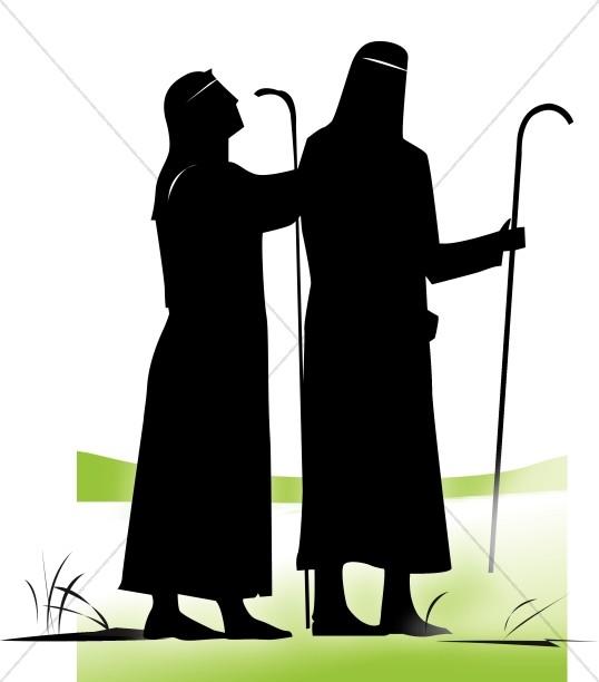 Shepherds nativity clipart graphic transparent library Silhouette Shepherds | Nativity Clipart graphic transparent library