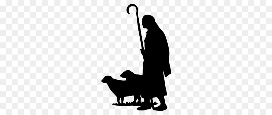 Shepherd silhouette clipart vector Christmas Black And White clipart - Sheep, Silhouette, Black ... vector