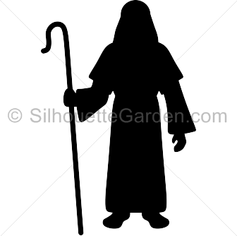 Shepherd silhouette clipart jpg royalty free stock Shepherd Silhouette jpg royalty free stock