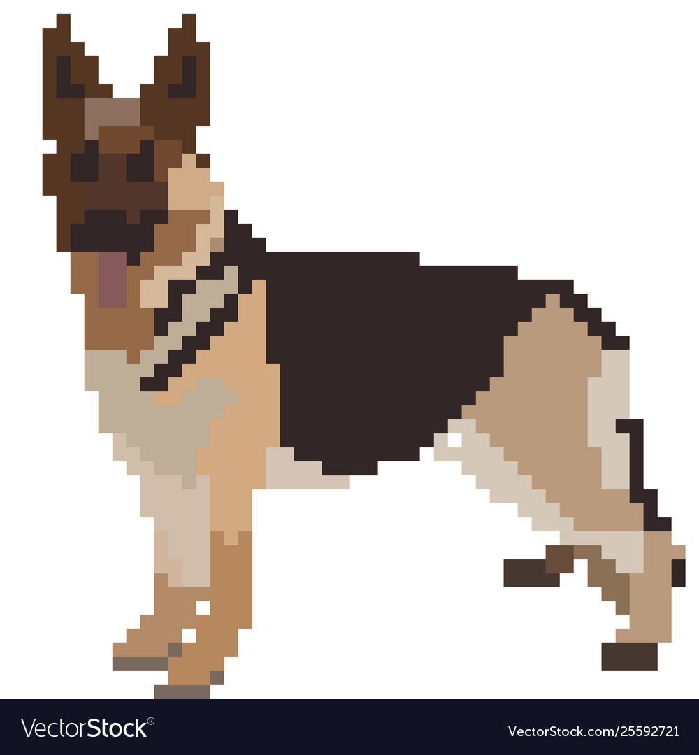 Shepherd sitting on a hill side clipart jpg royalty free library German shepherd pixel art top jpg royalty free library