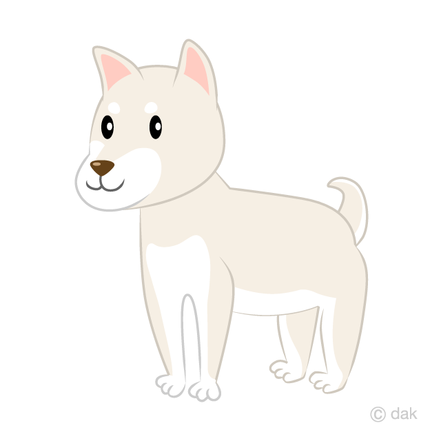 Shepherd sitting on a hill side clipart royalty free stock White Shiba Inu Clipart Free Picture|Illustoon royalty free stock