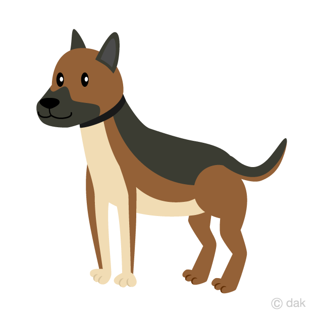 Shepherd sitting on a hill side clipart png library download Cute Shepherd Dog Clipart Free Picture|Illustoon png library download