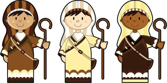 Shepherds nativity clipart clip freeuse clipart+shepherds | Sunday School 2017 | Sheep illustration ... clip freeuse