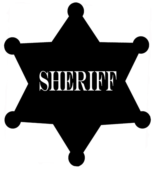 Sheriff badge clipart vector black and white Free Sheriff Badge Clipart, Download Free Clip Art, Free ... vector black and white