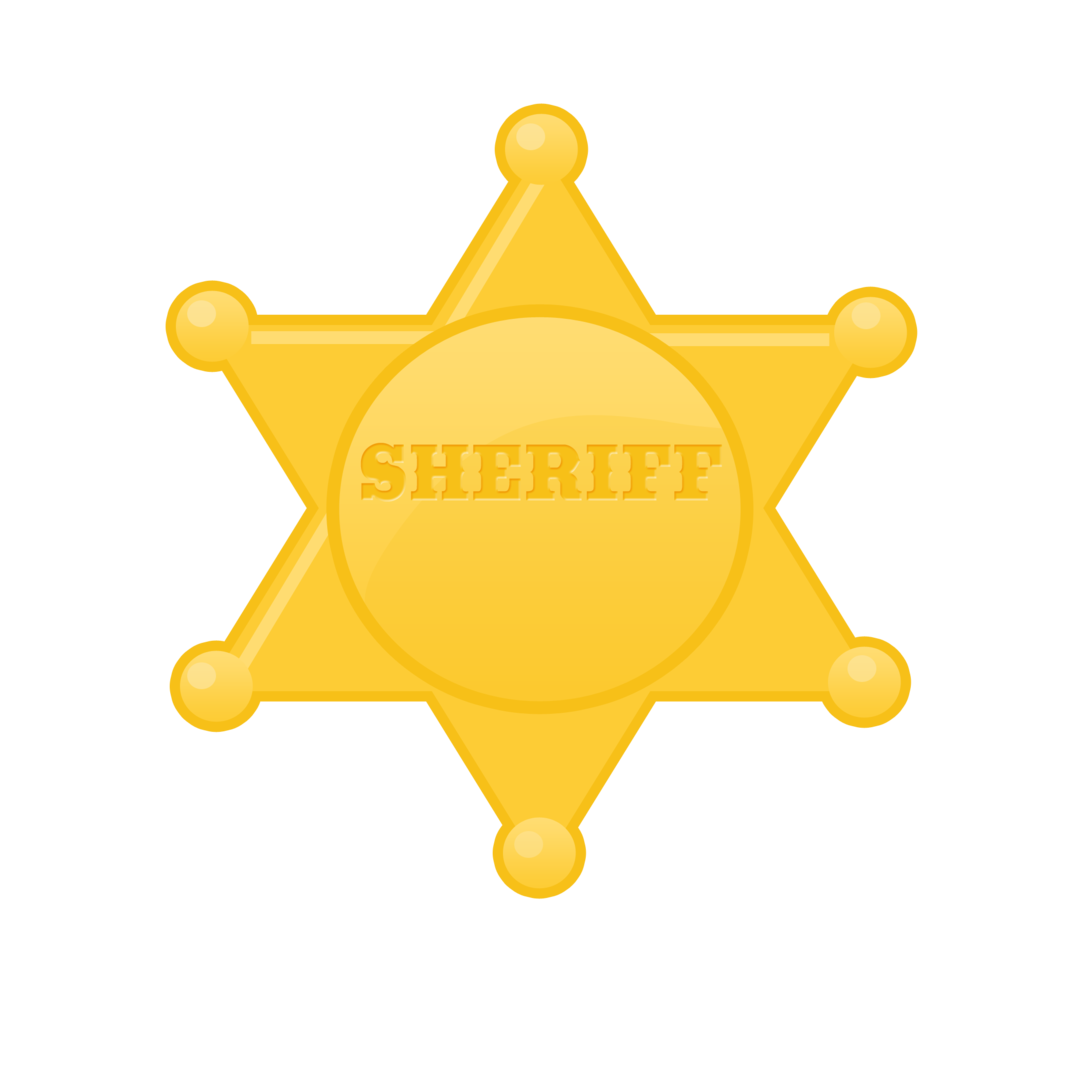 Sherriff star clipart jpg library download Winsome Design Sheriff Badge Clipart Icon Stock Vector Illustration ... jpg library download