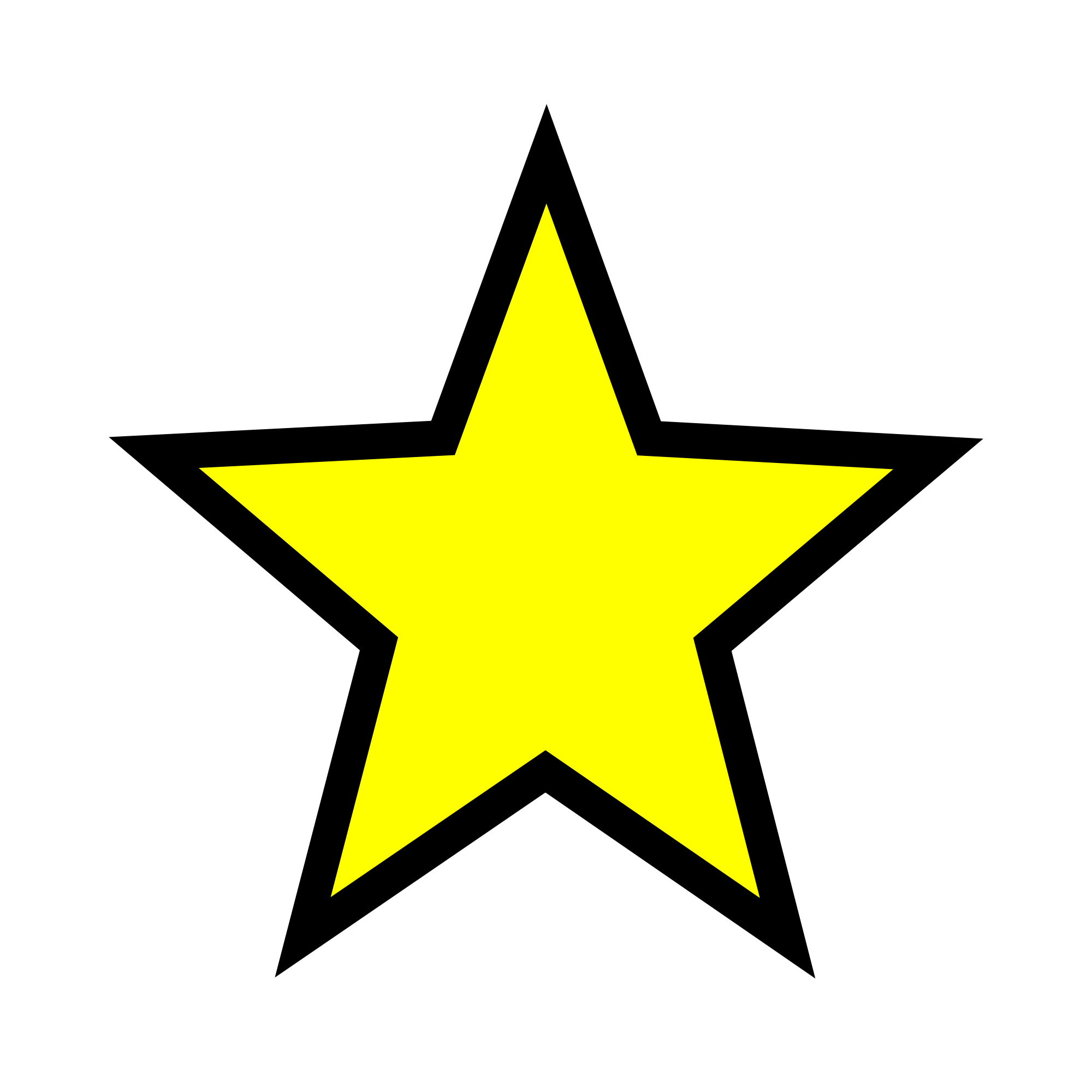 Sheriff star shape clipart clip art black and white Yellow Stars (45+) Desktop Backgrounds clip art black and white
