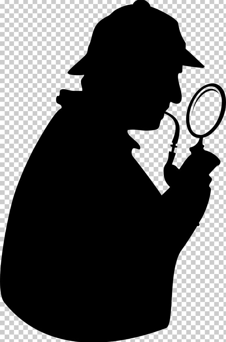 Sherlock clipart image black and white library Magnifying Glass Detective Sherlock Holmes PNG, Clipart ... image black and white library