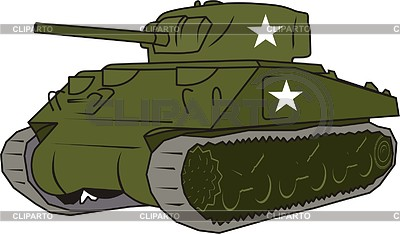 Sherman tank clipart vector black and white stock Sherman | Stock Photos and Vektor EPS Clipart | CLIPARTO vector black and white stock