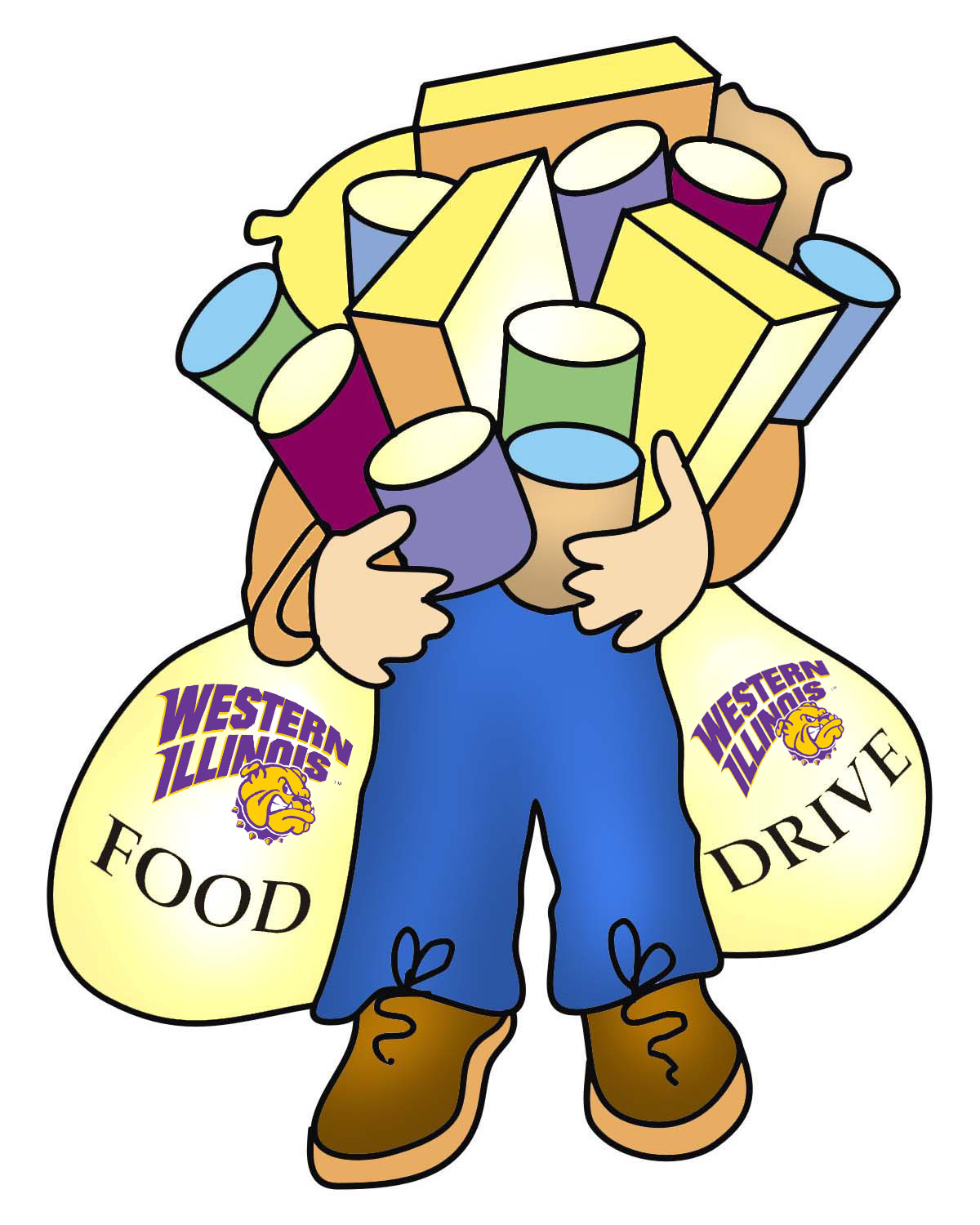 Shermanhall cliparts clipart freeuse download WIU-QC Food Drive, Presentation - Western Illinois ... clipart freeuse download