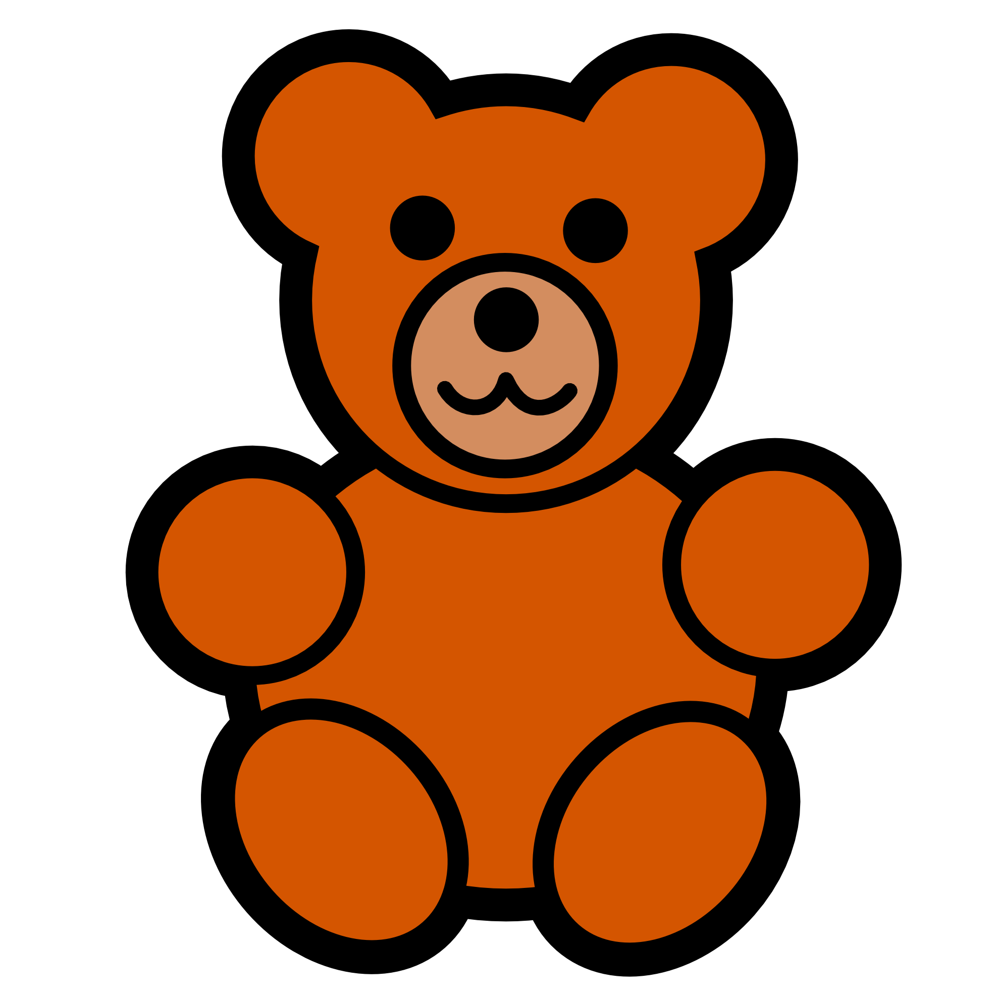 Shhh teddy bear clipart