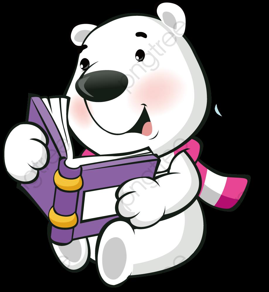 Shhh teddy bear clipart graphic transparent library Polar Bear Reading A Book Clipart - Full Size Clipart ... graphic transparent library