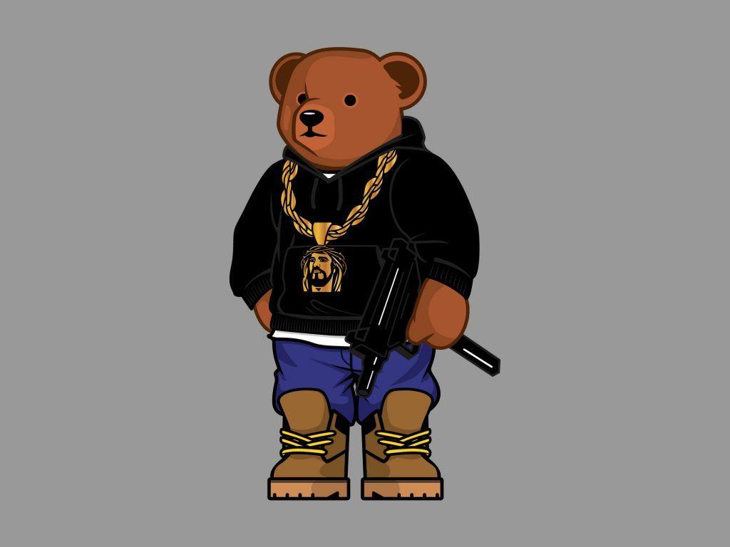 Shhh teddy bear clipart clip art library library Gangsta-Teddy-Bear-by-Old-Dirty-Dermot   Characters in 2019 ... clip art library library