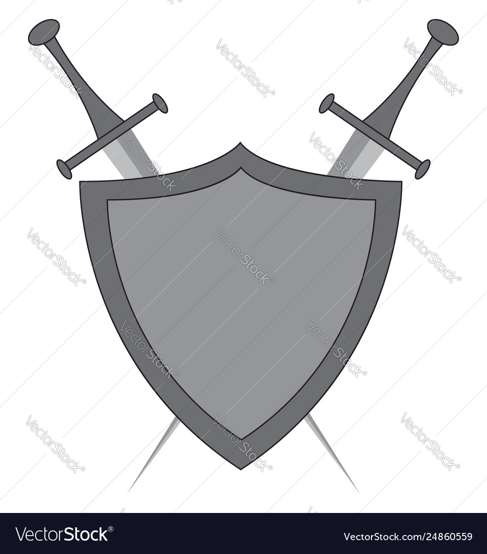 Shield and sword clipart jpg freeuse Clipart crossed swords and shield color jpg freeuse