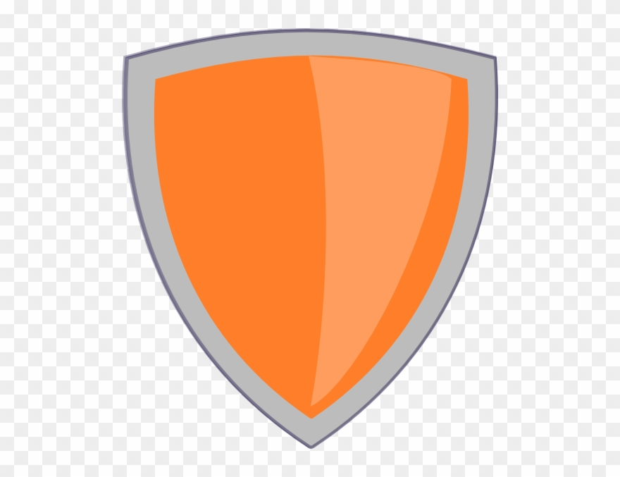 Shield clipart png png black and white stock Orange Shield No Whitebackround Clip Art At Clkercom ... png black and white stock