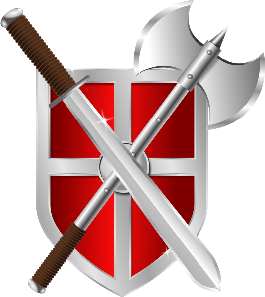 Shield with cross clipart image royalty free stock Sword Battleaxe Shield Clip Art at Clker.com - vector clip art ... image royalty free stock