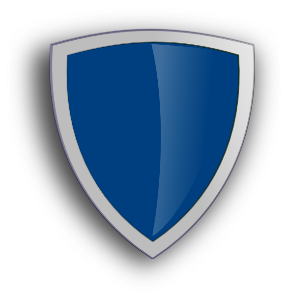 Shield with crown clipart clip art royalty free stock Blue Edged Shield Clip Art at Clker.com - vector clip art online ... clip art royalty free stock