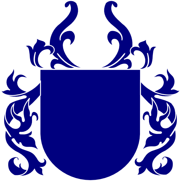 Shield with crown clipart graphic black and white stock Blue Shield Clip Art at Clker.com - vector clip art online, royalty ... graphic black and white stock