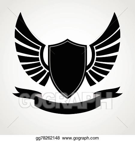 Shield with wings clipart png royalty free download Vector Clipart - Shield wings icon. Vector Illustration ... png royalty free download