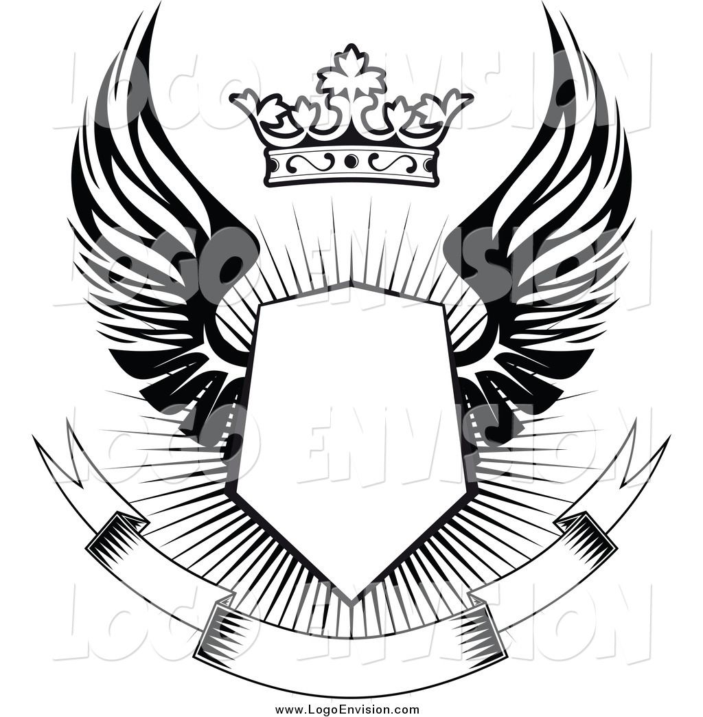 Shield with wings clipart image free library crest with wings - Google Search | Tattoos | Logos design ... image free library