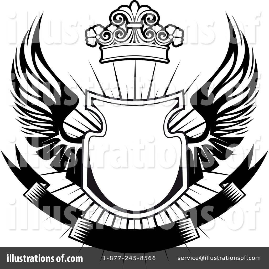 Shield with wings clipart clip freeuse library Shield Crest Clipart | Free download best Shield Crest ... clip freeuse library