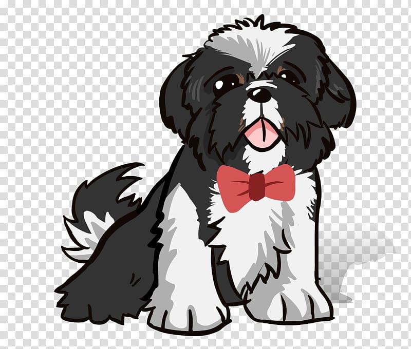 Shih tzu puppies clipart jpg black and white download Shih Tzu Dog breed Puppy Caricature, puppy transparent ... jpg black and white download