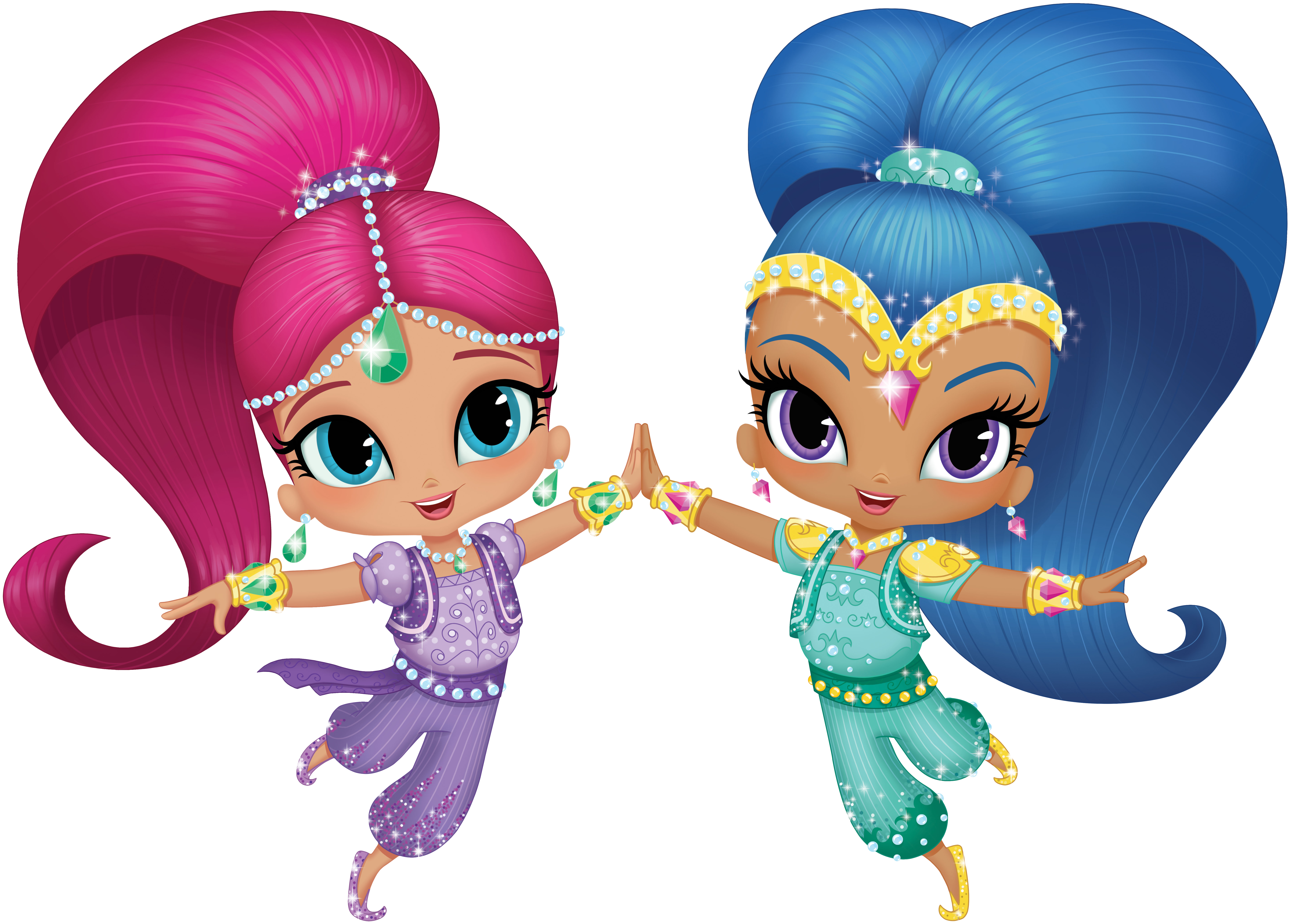 Shimmer and shine clipart images graphic black and white Shimmer and Shine Transparent PNG Clip Art Image | Gallery ... graphic black and white