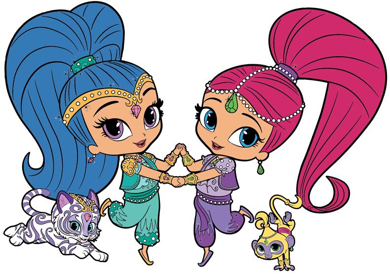 Shimmer and shine clipart images svg download Shimmer and Shine Clipart | Cartoon Clip Art svg download