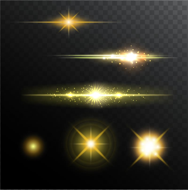 Spark effect clipart banner freeuse Stage lighting Halo, Shine light effect , yellow spark ... banner freeuse