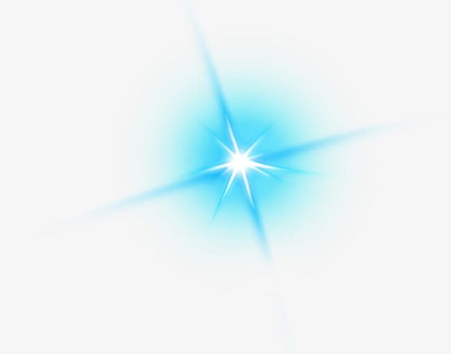 Shine light effect clipart png black and white download Blue Fresh Shine Light Effect Element PNG, Clipart, Blue ... png black and white download