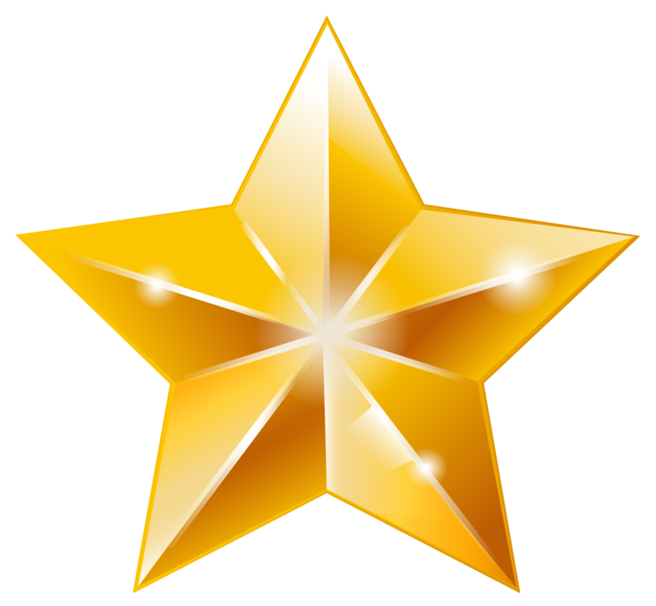 Shining star vector clipart png transparent stock Golden Star Vector done in 2015, via Illustrator. Created it as ... png transparent stock