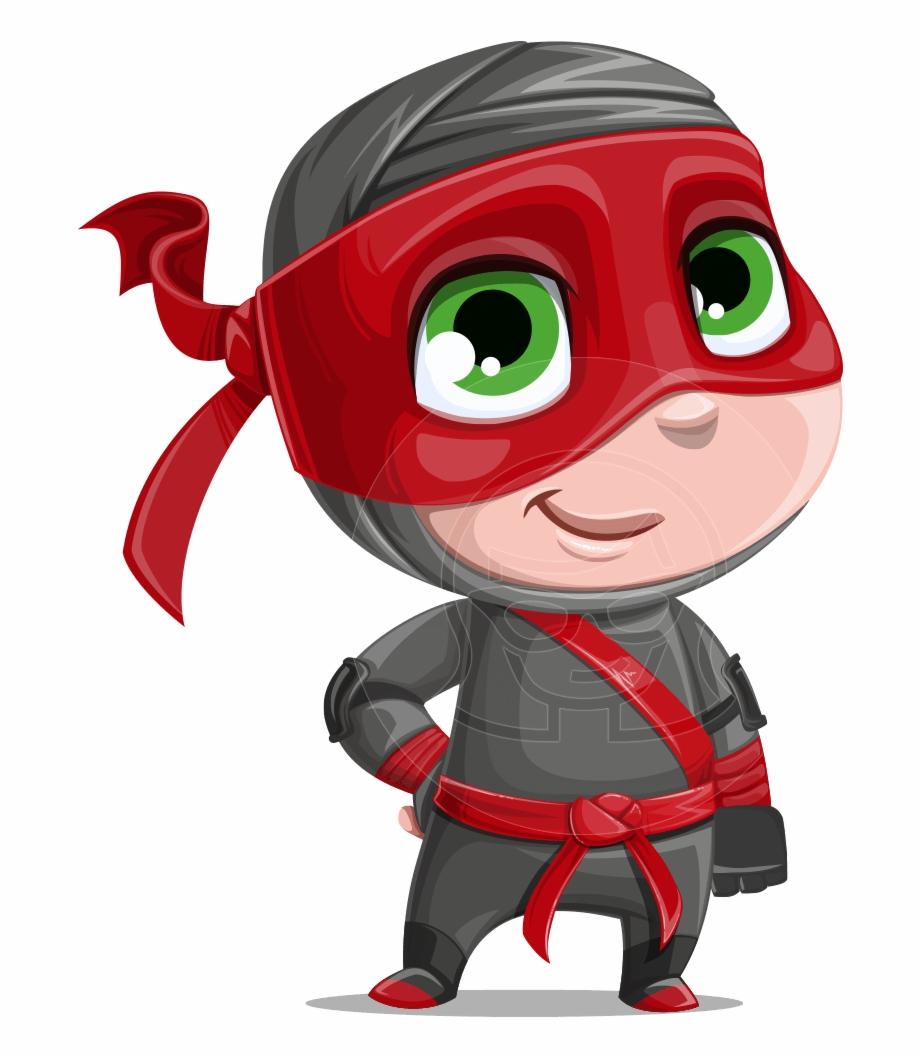 Shinobi ninja clipart vector library library Little Ninja Kid Cartoon Vector Character Aka Shinobi ... vector library library