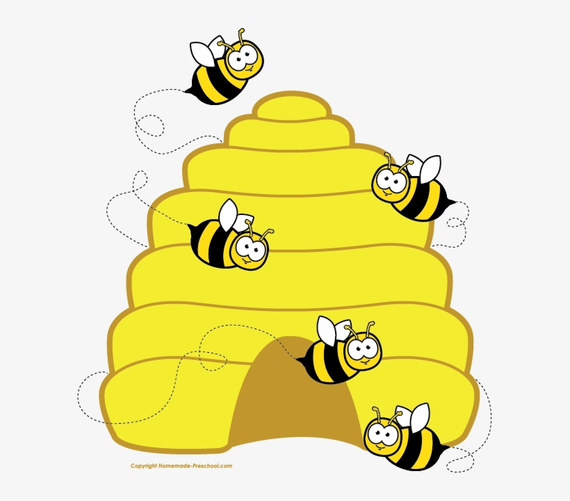 Shiny bee clipart clipart black and white library Free Bee Clipart - Honey Bee Hive Clipart Transparent PNG ... clipart black and white library