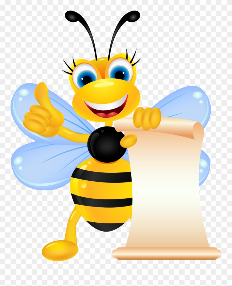 Shiny bee clipart image free Clipart Bee Pollinator - Thumbs Up Bee Journal - Png ... image free