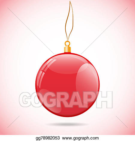 Shiny christmas ornament clipart graphic free library Drawing - Square illustration with red shiny christmas ball ... graphic free library