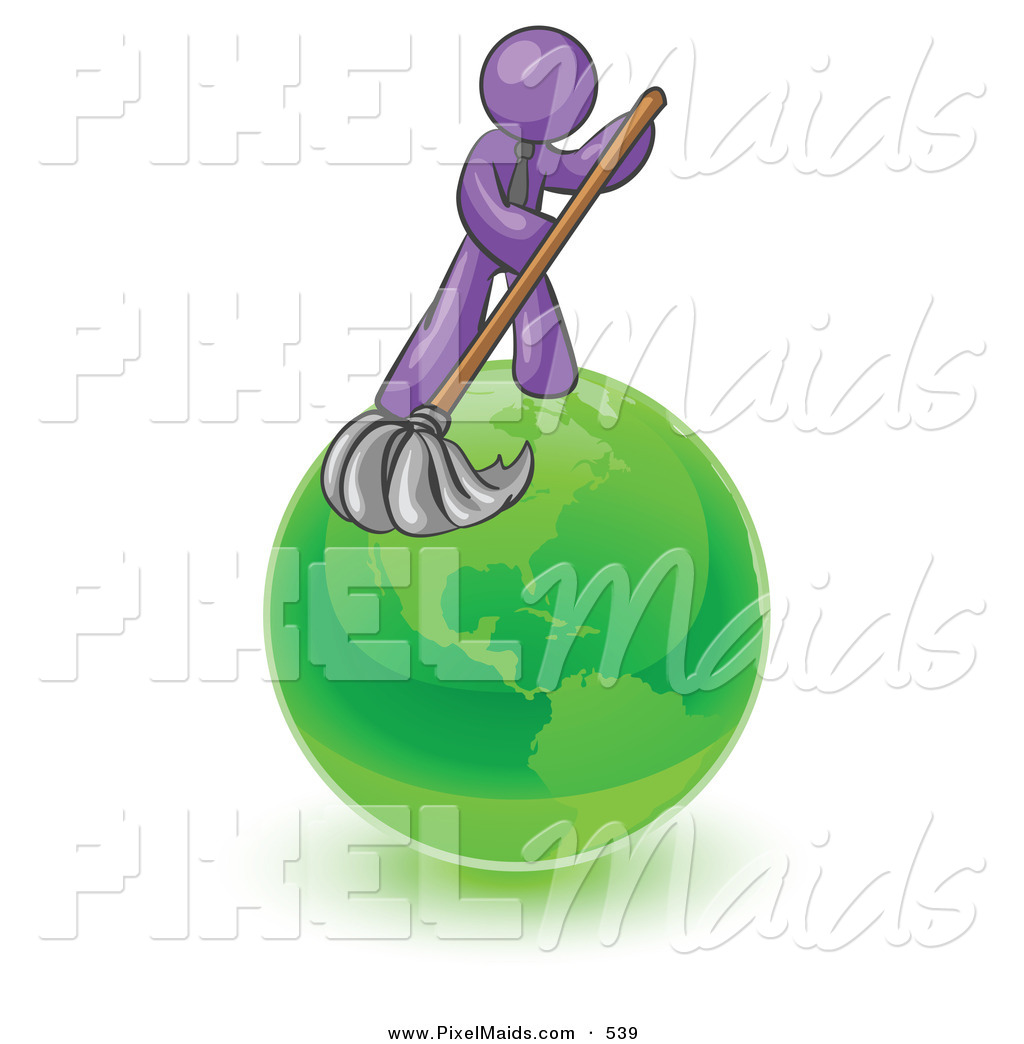Shiny clean clipart clip art freeuse library Clipart of a Shiny Purple Man Using a Wet Mop with Green ... clip art freeuse library