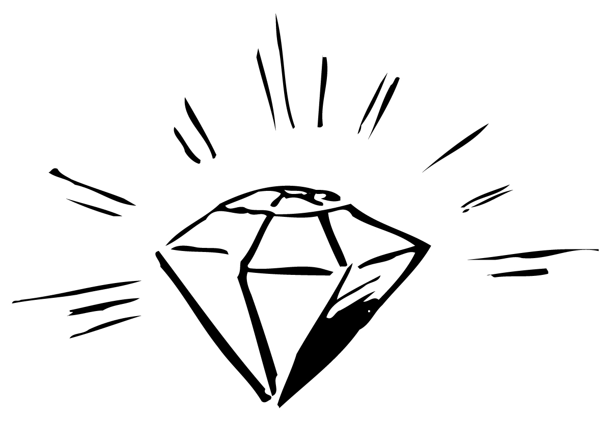 Shiny item clipart black and white Free Diamonds Clipart, Download Free Clip Art, Free Clip Art ... black and white