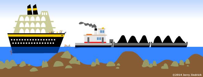 Ship on sandbar clipart clip art transparent stock Best Boats for Rivers clip art transparent stock