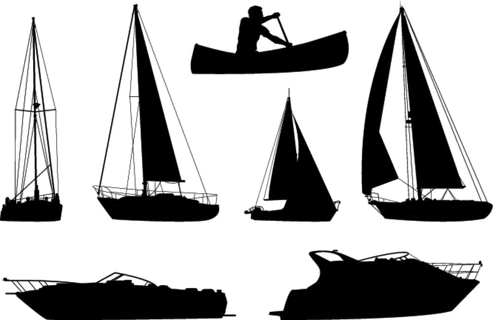 Ship on sandbar clipart png royalty free Boat Silhouette Ship Royalty-free - Silhouette of various ... png royalty free