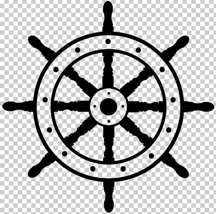 Ship steering wheel clipart black and white jpg royalty free Ship\'s Wheel Boat PNG, Clipart, Anchor, Black And White ... jpg royalty free